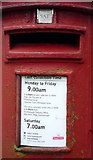TA0288 : Detail, George V postbox on Woodland Ravine, Scarborough by JThomas