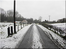 H4277 : Snow and slush along Connaghty Road by Kenneth  Allen