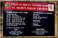 SJ3043 : St Mary's Shared Church nameboard, Ruabon by Jaggery