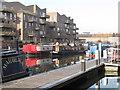 TQ1777 : Narrowboats at Brentford Lock include Maharlika and Ginger Bear by David Hawgood