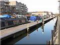 TQ1777 : Kilbreck, narrowboat moored in Brentford Lock basin by David Hawgood