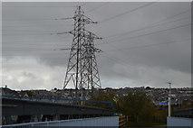 SX4954 : Two pylons by N Chadwick
