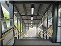 SJ3478 : Steps down to platform 3 at Hooton railway station by John S Turner