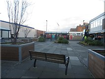 NZ3181 : Pedestrian area at Blyth Bus Station by Graham Robson