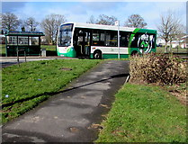 ST3091 : Bus at the Almond Drive timing point, Malpas, Newport by Jaggery