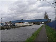 TQ1983 : Footbridge over the canal near Park Royal by John Slater