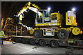SU5290 : Road/Rail vehicle on low loader in Didcot Station East Carpark by Roger Templeman