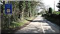 TG3708 : South Burlingham Road past Lingwood Lodge by Evelyn Simak