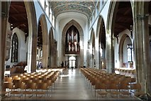 TL7006 : The Nave looking West, Chelmsford Cathedral, Essex by Derek Voller