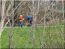 SJ9594 : Cleaning up at Swains Valley by Gerald England