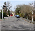 SJ3043 : Station Road towards Ruabon railway station by Jaggery
