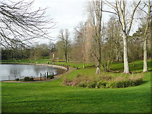 TM1645 : The Round Pond and trees, Christchurch Park, Ipswich by Humphrey Bolton
