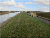 TL4176 : Lorry on B1381 by Hugh Venables