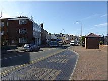 SH2482 : Bus stop near the station at Holyhead by Eirian Evans