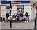 SO8454 : Street musicians, High Street, Worcester by Julian Osley
