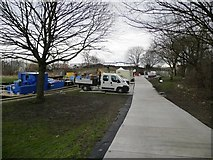 SE3419 : Temporary road to Fall Ing lock by Christine Johnstone