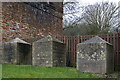 SZ0692 : WWII defences in the environs of Bournemouth & Christchurch: Bourne Valley viaducts - cubes (2) by Mike Searle