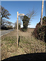 TG2504 : Footpath sign off the B1332 Bungay Road by Adrian Cable