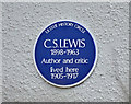 "J3875 : CS Lewis plaque, ""Little Lea"", Belfast (March 2016) by Albert Bridge"