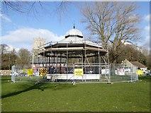 SZ1592 : Christchurch: bandstand on Christchurch Quay by Jonathan Hutchins