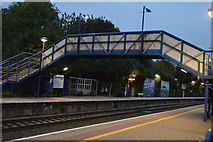 SU3468 : Footbridge, Hungerford Station by N Chadwick