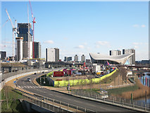 TQ3784 : View towards Stratford by Des Blenkinsopp