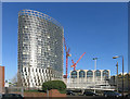 TQ3884 : Olympian Tower, Stratford by Des Blenkinsopp