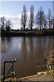 SO8454 : Cathedral Ferry steps, Worcester by Stephen McKay