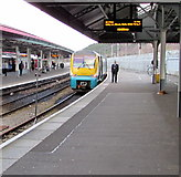 SS6593 : Chester train awaits departure from platform 4, Swansea station by Jaggery
