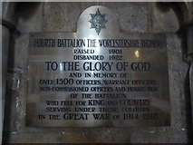 SO8554 : Worcester Cathedral: memorial (15) by Basher Eyre
