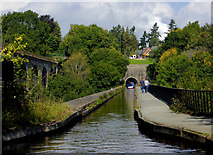 SJ2837 : Aqueduct, viaduct and tunnel near Chirk by Roger  Kidd