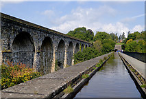 SJ2837 : Aqueduct and viaduct near Chirk by Roger  Kidd