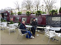 TQ2681 : Waterside Cafe, Little Venice by Oliver Dixon