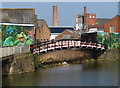 SK5705 : Factories along the Grand Union Canal in Leicester by Mat Fascione