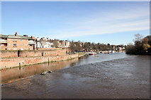 SJ4065 : Chester Weir and the River Dee by Jeff Buck