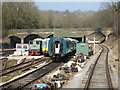 SK2854 : Ecclesbourne Valley Railway - stock and workshops by Chris Allen