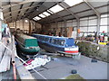 SO8453 : Dry dock at Diglis Basin, Worcester by Chris Allen