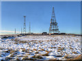 SD6614 : Winter Hill Transmitter Masts by David Dixon