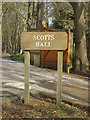 TM4667 : Scotts Hall sign by Adrian Cable
