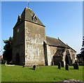 SO4831 : Tower of the Parish Church of St David, Much Dewchurch by Jaggery