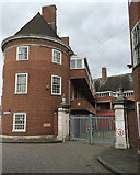 SO8454 : Rear of the former fire station, Worcester by Robin Stott