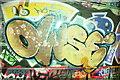 TQ3079 : View of street art in Leake Street Tunnel #3 by Robert Lamb
