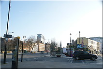 TQ3179 : View of the Christ Church and Upton Chapel, Westminster Bridge Road from Baylis Road by Robert Lamb