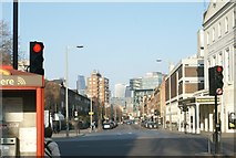 TQ3179 : View of the Walkie Talkie and Pelestra House from Baylis Road by Robert Lamb