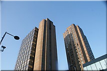 TQ3179 : Looking up at the office blocks on Sandell Street from Waterloo Road #2 by Robert Lamb