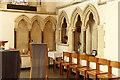 TQ2484 : Christ Church & St Lawrence, Brondesbury - Piscina & sedilia by John Salmon