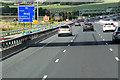 SE2921 : Roadworks on the M1 near to Kirkhamgate by David Dixon