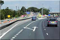 SE3024 : Northbound M1, Exit Sliproad at Junction 41 by David Dixon