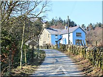 SH5848 : Blue House near Beddgelert by Richard Hoare