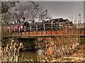 SD7916 : East Lancashire Railway, Square River Bridge at Ramsbottom by David Dixon